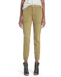 Joe's Jeans - Green 'Flight' Zip Ankle Jogger Pants - Lyst