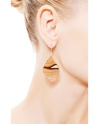 Kothari - Brown One Of A Kind Montana Paddle Agate Earrings - Lyst
