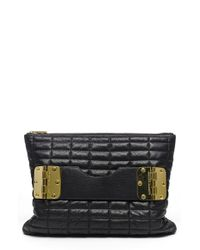 hayden-harnett | Black 'bowdoin' Quilted Leather Clutch | Lyst