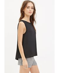 Forever 21 - Black Flared Chiffon Top - Lyst