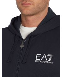 EA7 | Blue Print Zip Collar Zip Fastening Zip-thru for Men | Lyst