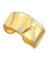 Jose & Maria Barrera | Metallic Crystal-detailed Gold Cuff | Lyst