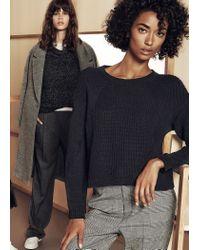 Mango - Black Chunky-Knit Sweater - Lyst
