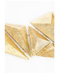 Missguided | Metallic Cleksa Geometric Plate Necklace | Lyst