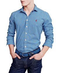 Thomas Pink | Blue Raeburn Check Slim Fit Shirt for Men | Lyst