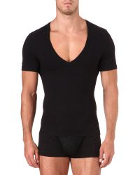 Spanx | Black Deep V-neck T-shirt for Men | Lyst