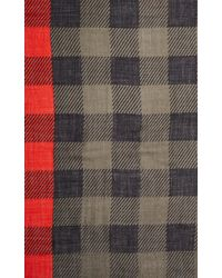 Rag & Bone - Green Buffalo Check Scarf - Lyst