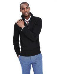 Banana Republic | Black Moto Mock Pullover for Men | Lyst