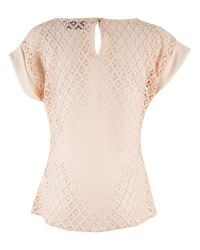 Closet | Natural Blossom Lace Back Top | Lyst