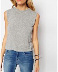 ASOS | Gray Forever Sleeveless Tank Top | Lyst