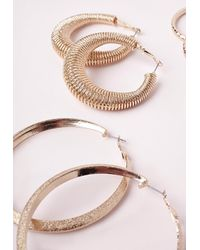 Missguided | Metallic Multi Pack Hoops Gold | Lyst