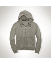 Polo Ralph Lauren - Gray Fleece Full-zip Hoodie for Men - Lyst