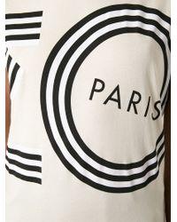 KENZO - Natural Logo Print T-Shirt - Lyst