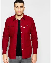 81675a2d641 G-Star RAW Denim Landoh Slim Fit Shirt in Red for Men - Lyst
