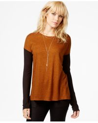 Sanctuary - Black Ribbed Contrast Sweater - Lyst