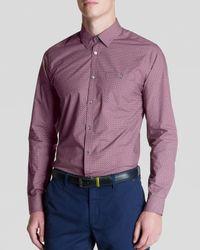 Ted Baker - Red Dotbiz Polka Dot Print Button Down Shirt - Regular Fit for Men - Lyst