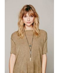 Free People - Metallic Womens Double Layer Rosary - Lyst