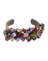 Iosselliani - Multicolor Crystal-embellished Cuff - Lyst