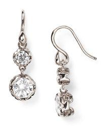 Diane von Furstenberg - Metallic Cubic Zirconia Drop Earrings - Lyst
