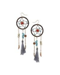 TOPSHOP | Blue Dreamcatcher Tassel Drop Earrings | Lyst