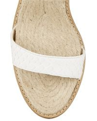Paul Andrew - White Hampton Python Espadrille Wedge Sandals - Lyst