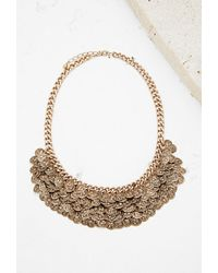 Forever 21 | Metallic Etched Coin Statement Necklace | Lyst