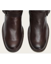 Frye | Brown Phillip Inside Zip for Men | Lyst