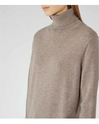 Reiss - Brown Rembi Cashmere-blend Jumper - Lyst