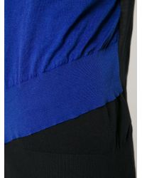 Cedric Charlier - Blue Double Layered Sweater - Lyst