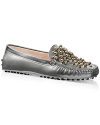 Tod's   Metallic Gommino Driving Shoes In Leather for Men   Lyst