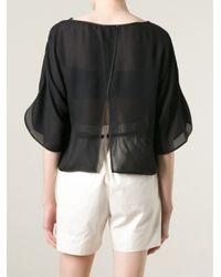 Forte Forte | Open Black Sheer Blouse | Lyst