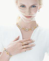 Roberto Coin - Metallic Pois Moi 4-diamond Square Link Bracelet - Lyst