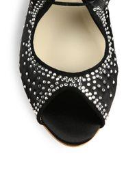 Sophia Webster - Black Mel Satin Lace-Up Sandals - Lyst