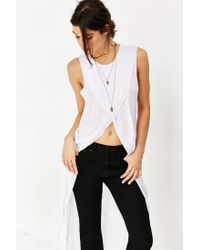 Truly Madly Deeply | White Crossover High/low Muscle Tank Top | Lyst