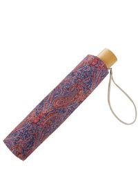 London Undercover - Orange Felix And Isabelle Liberty Print Compact Umbrella - Lyst