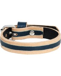 Caputo & Co. | Blue Skived Leather Bracelet for Men | Lyst
