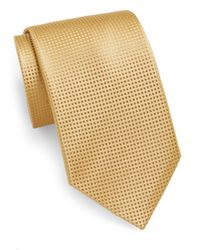 Saks Fifth Avenue | Metallic Pindot Silk Tie for Men | Lyst
