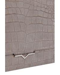 HUGO - Gray Leather Shoulder Bag: 'delight' - Lyst