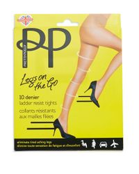 Pretty Polly | Black On The Go Ladder Resist Tights | Lyst