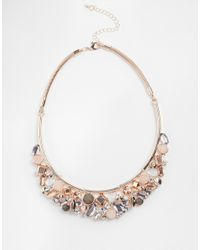 Oasis - Metallic Semi Precious Mixed Stone Articulated Collar - Lyst