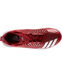 Adidas - Red Icon Baseball Trainers for Men - Lyst