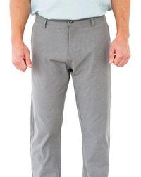 Linksoul - Gray Linen Boardwalker Performance Golf Pants for Men - Lyst