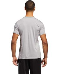 Adidas - Gray Adge Of Sport Emblem Tee for Men - Lyst