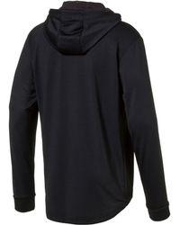 PUMA - Black Active Tech Fleece Hoodie for Men - Lyst