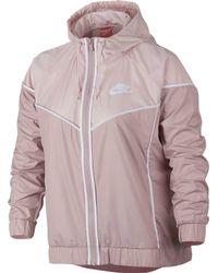 Nike - Pink Plus Size Sportswear Windrunner Jacket - Lyst