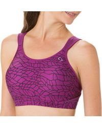 8b9ec6e530d55 Lyst - Brooks Maia Sports Bra in Purple