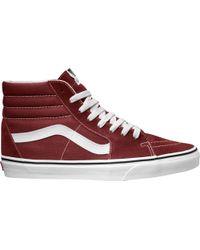 Vans - Red Sk8-hi Shoes for Men - Lyst