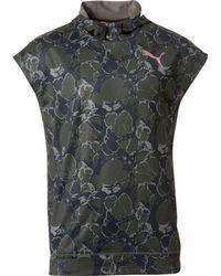 5afe00602cf3 Lyst - PUMA Tech Fleece Short Sleeve Hoodie in Black for Men