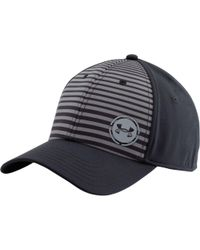 af57549be32 Lyst - Under Armour Low Crown Striped Training Hat in Black for Men