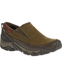Merrell - Green Polarand Rove Moc Waterproof Slip-on Casual Shoes for Men - Lyst